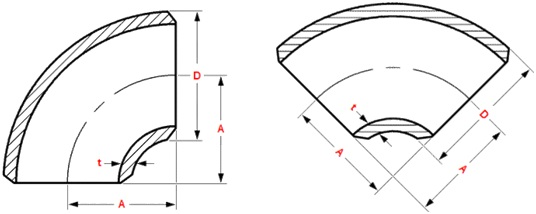 short-radius-elbow-drawing