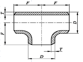Dimensions-of-Tee-in-EN-10253-2