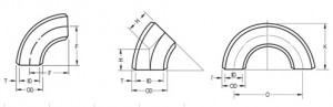 JIS-B2311-B2312-SGP-ELBOW-BEND-DRAWING