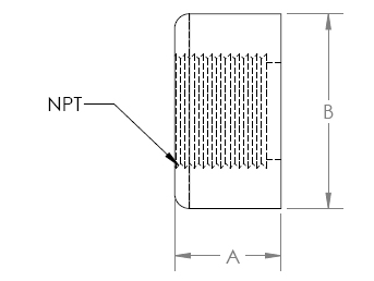 half-thread-pipe-coupling-drawing