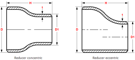Dimensions-of-butt-welding-concentric-eccentric-reducers-ANSI-ASME-B16.9 .